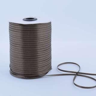 А1-01-129 атласная лента ш 0,3см коричнево-оливковая на метраж (в бобине  880яр/315г) оптом