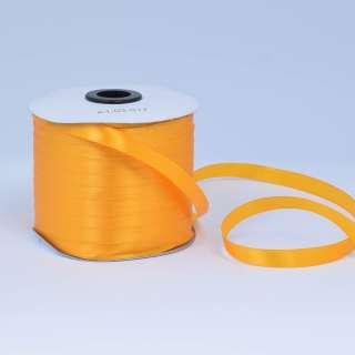Стрічка атласна 10мм жовта насичена А1-03-017 на метраж (бобіна 230яр / 193,70г) оптом