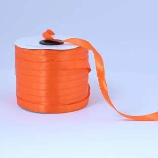 Стрічка атласна 10мм помаранчева яскрава А1-03-025 на метраж (бобіна 230яр / 193,70г) оптом