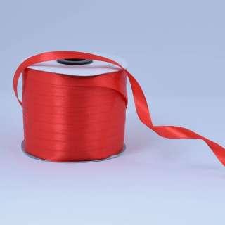 Лента атласная 10мм красная А1-03-026 на метраж (бобина 230яр/193,70г) оптом