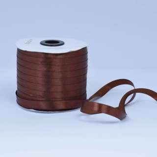 Стрічка атласна 10мм коричнева А1-03-032 на метраж (бобіна 230яр / 193,70г) оптом