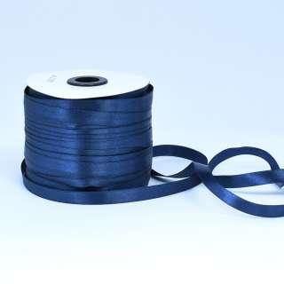 Стрічка атласна 10мм синя А1-03-038 на метраж (бобіна 230яр / 193,70г) оптом