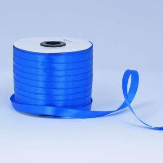 Лента атласная 10мм синя ультрамарин А1-03-040 на метраж (бобина 230яр/193,70г) оптом
