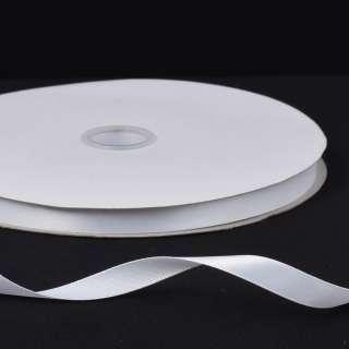 Лента атласная 10мм белая А2-03-001 на метраж (бобина 100яр/158г) оптом