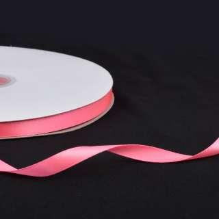 Стрічка атласна 10мм рожева неон А2-03-035 на метраж (бобіна 100яр / 158г) оптом