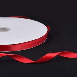Лента атласная 10мм красная А2-03-039 на метраж (бобина 100яр/158г) оптом