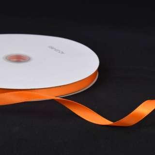 Лента атласная 10мм оранжевая яркая А2-03-068 на метраж (бобина 100яр/158г) оптом