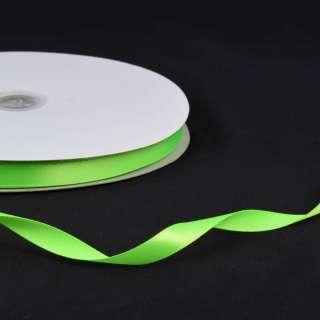 Стрічка атласна 10мм салатова неон А2-03-118 на метраж (бобіна 100яр / 158г) оптом