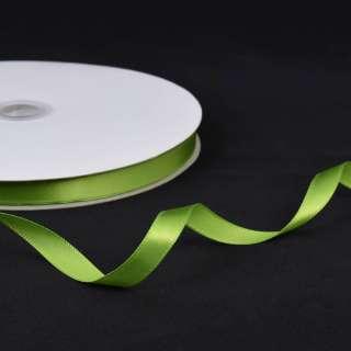 Лента атласная 10мм зеленая светлая А2-03-124 на метраж (бобина 100яр/158г) оптом