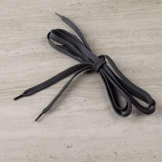 Шнурки взуттєві 1 пара 100см сірі темні оптом