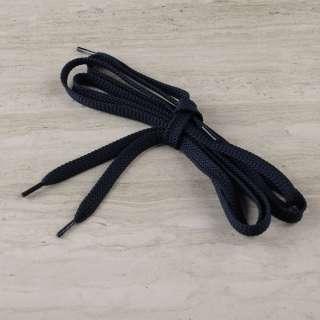 Шнурки взуттєві 1 пара 100см сині темні оптом