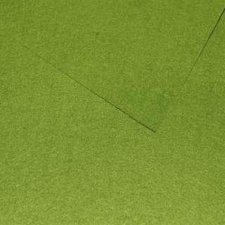 Фетр лист зеленый (0,9мм) 21х30см оптом