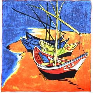 Хустка шовкова 87х88 см Човни в Сент-Марі (ван Гог) оптом