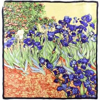 Хустка шовкова 85х86 см Іриси (ван Гог) оптом