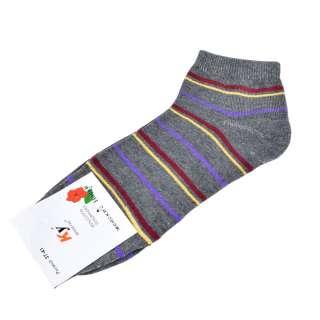 Носки серые темные в бордово-желтую полоску (1пара) оптом