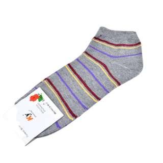 Носки серые в бордово-желтую полоску (1пара) оптом