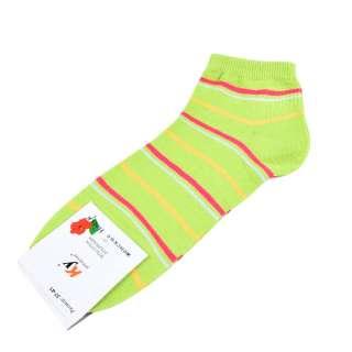 Носки салатовые в красно-желтую полоску (1пара) оптом