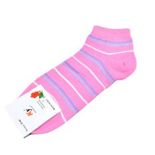 Носки розовые в бело-голубую полоску (1пара) оптом