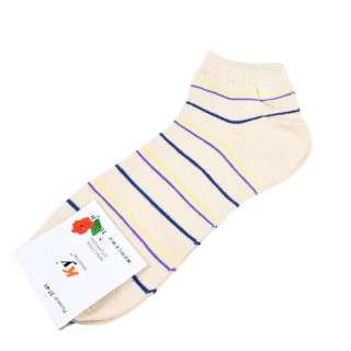 Носки бежевые светлые в желто-синюю полоску (1пара) оптом