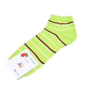 Носки салатовые в коричнево-желтую полоску (1пара) оптом