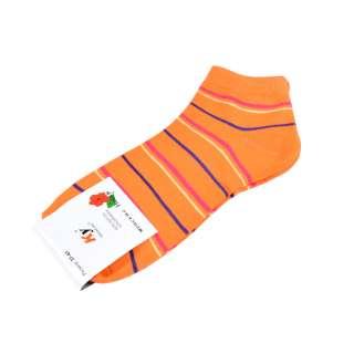Носки оранжевые в красно-синюю полоску (1пара) оптом