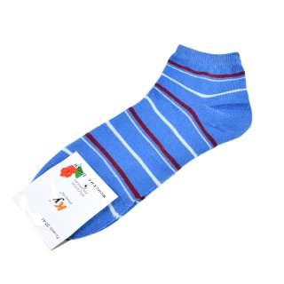 Носки голубые темные в бордово-голубую полоску (1пара) оптом