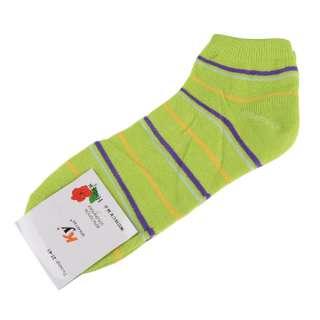 Носки салатовые в фиолетово-серую + желтую полоску (1пара) оптом