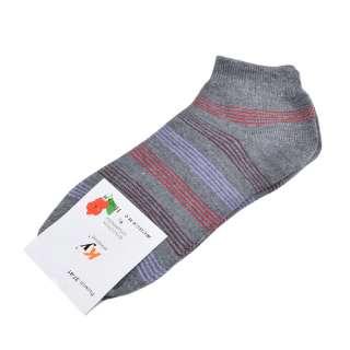 Носки серые в бордово-красную полоску (1пара) оптом