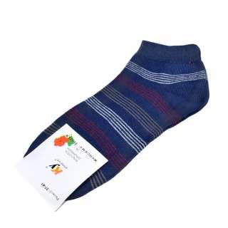 Носки синие в бело-бордовую полоску (1пара) оптом