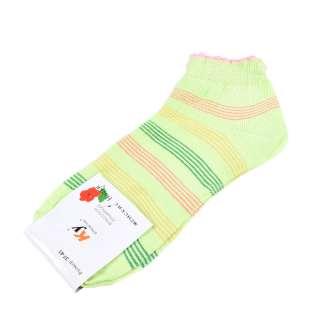 Носки салатовые в зелено-желтую полоску (1пара) оптом