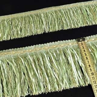 бахрома салатовая с атлас. лентой (в.825г) оптом