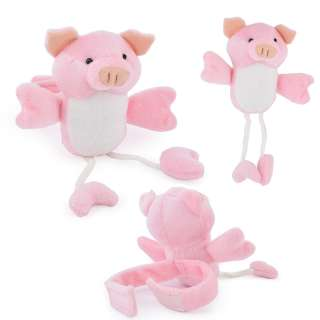 Подхват для штор мягкая игрушка на липучке свинка 20х12х6 см розовая оптом