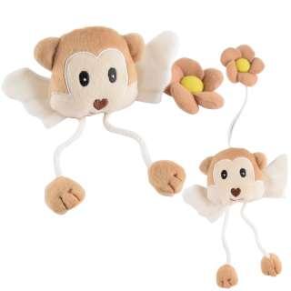 Подхват для штор мягкая игрушка на резинке обезьянка 20х9х4 см бежевая оптом