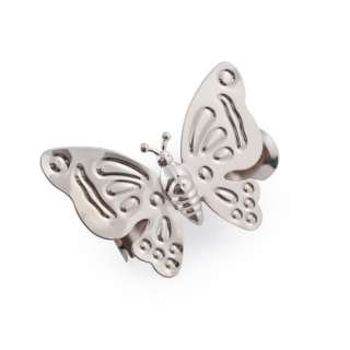 прищепка для штор  бабочка серебро 12х9см оптом