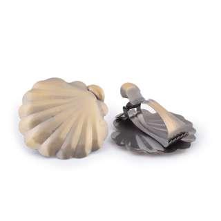 Прищепки декоративные для штор металл ракушка 11 см золотистая оптом