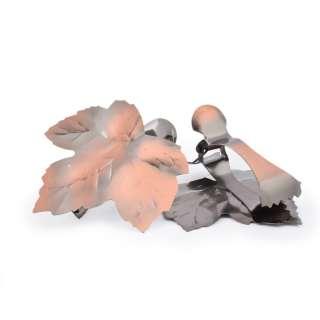 Прищепки декоративные для штор металл лист 11 см бронзовая оптом