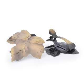Прищепки декоративные для штор металл лист 11 см золотистая оптом
