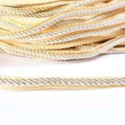 Кант-шнур молочный, диаметр 0,9см, тесьма 1,5см оптом