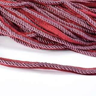 Кант-шнур бузковий, діаметр 0,9см, тасьма 1,5 см оптом