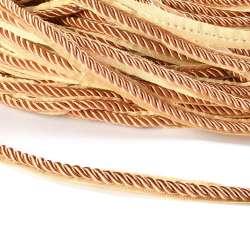 Кант-шнур карамель, диаметр 0,9см, тесьма 1,5см оптом