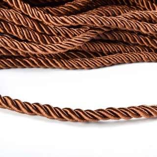 Шнур кручений коричневий, діаметр 0,9см оптом