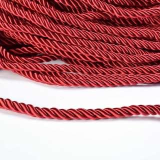 Шнур кручений бордовий, діаметр 0,9см оптом