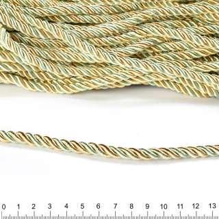 Шнур кручений оливковий / шампань, діаметр 0,9см оптом