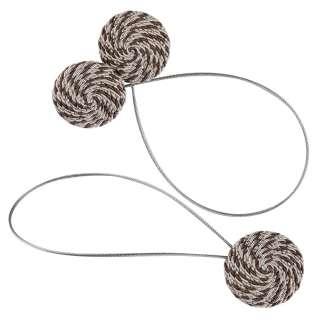 Підхват магнітний для штор коло зі шнуром коричневий строкатий оптом