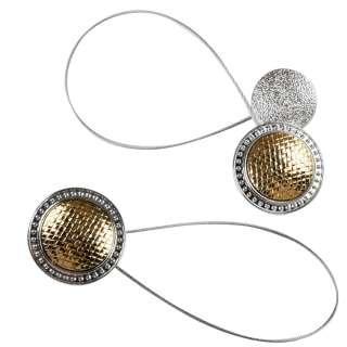 Підхват магнітний для штор коло плетінка золото з сріблом оптом