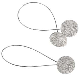 Підхват магнітний для штор коло зі шнуром сіро-молочний строкатий оптом