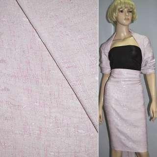 Фукра блідо-рожева з абстрактним малюнком ш.140 оптом